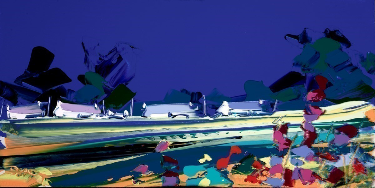 Village Meadow by Duncan MacGregor -  sized 24x12 inches. Available from Whitewall Galleries